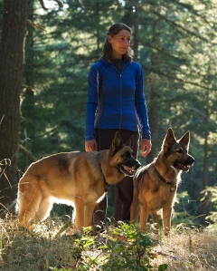 Dogs and I in the woods